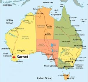 Australia. Karnet