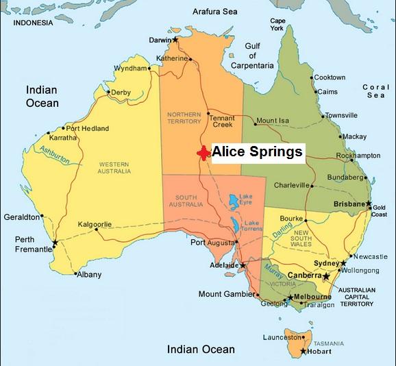 Alice Springs Australia Map Australia Map Alice Springs Alice Springs Australia Map