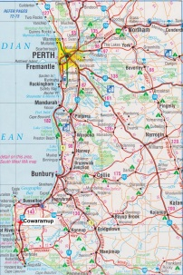 Map. Cowaramup