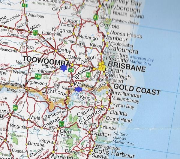 Map proximity to Pittsworth 06.04.2017